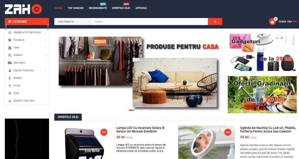Magazin online Zaho: baterii externe, drone, gadget-uri