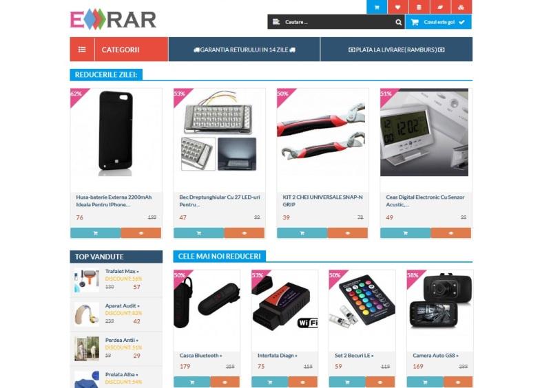 Erar site dedicat reducerilor de produse