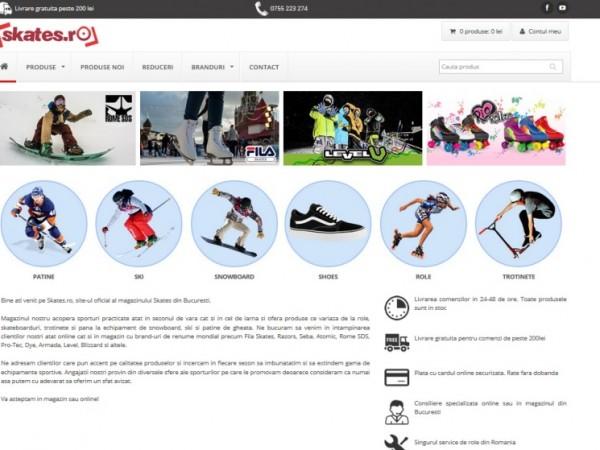 Magazinu role, patine, snowboard, ski, trotinete, skateboard.